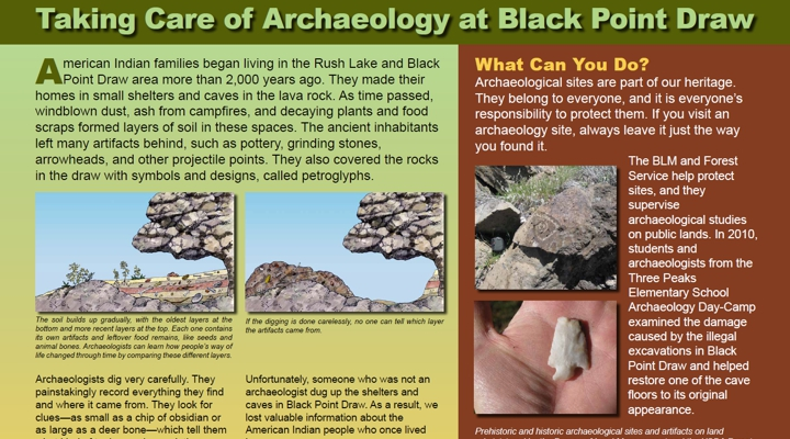 Taking Care of Archaeology at Black Point Draw
